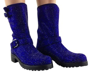 ZIGIny black with dark blue crystals Boots