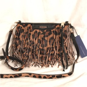Rebecca Minkoff New/nwt Clutch Animal Print Leather Handbag Cross Body Bag