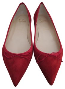 Christian Louboutin Suede Red Flats