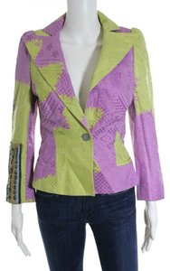 Christian Lacroix Cotton Blend Purple Blazer