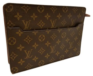 Louis Vuitton Eva Orsay Vintage Unisex Brown Monogram Clutch