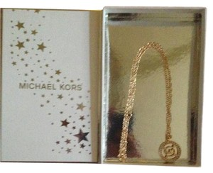 Michael Kors NEW IN BOX/MK TISSUE PAPER MK GOLD/SWARVOSKI CRYSTAL CHARM RETAIL $128