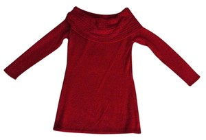 FORENZA New Women's Misses Red Cowl Neck Sweater Top and Maxi Skirt Suit Set Size XS