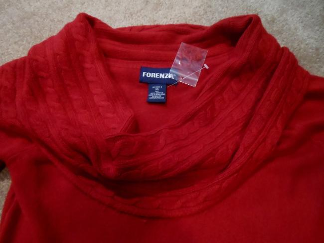 FORENZA New Red Cowl Neck Sweater Top and Maxi Skirt Suit Set Size XS
