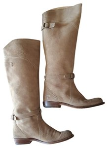 Frye Dorado Suede Leather Sand Tan Light Brown Boots