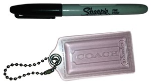 Coach XXL HUGE CLEAR COACH HANGTAG