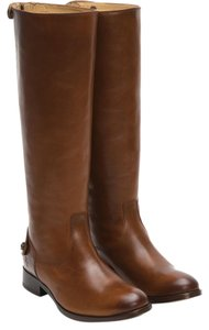 Frye Melissa Leather Flat Tall Cognac Boots