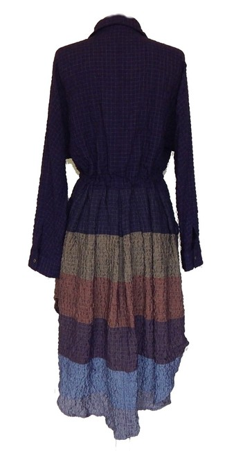 Multi Maxi Dress by Free People Dolman Sleeves Spread Collar Front Button Closure Muted Stripes A Line Skirt Image 7