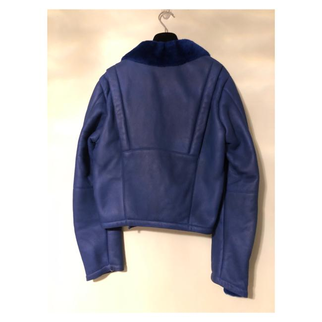 MCQ by Alexander McQueen blue Leather Jacket Image 5