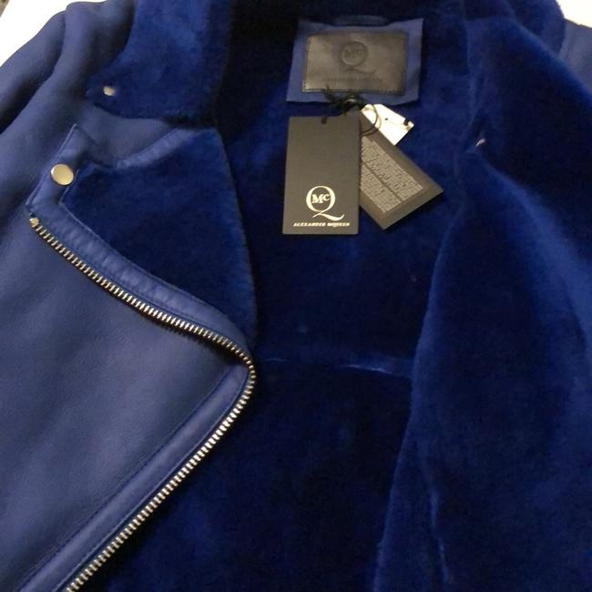 MCQ by Alexander McQueen blue Leather Jacket Image 6