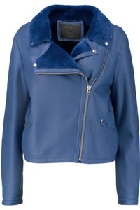 MCQ by Alexander McQueen blue Leather Jacket