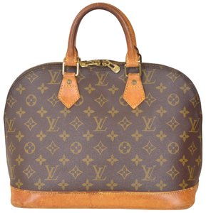 Louis Vuitton Alma Alma Satchel in Brown
