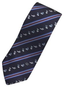 Gucci Blue New Without Tag Animal Silk Tie/Bowtie