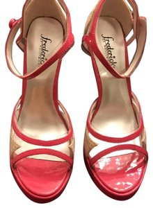Frederick's of Hollywood Pink and off White Platforms