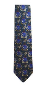 MCM Blue New Without Tag Silk Tie/Bowtie