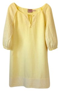 Juicy Couture short dress Bright, yet pale yellow on Tradesy