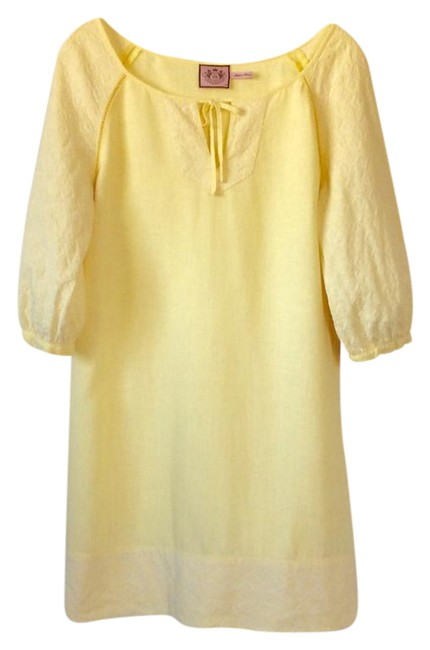 Preload https://img-static.tradesy.com/item/20527179/juicy-couture-bright-yet-pale-yellow-short-casual-dress-size-petite-8-m-0-1-650-650.jpg