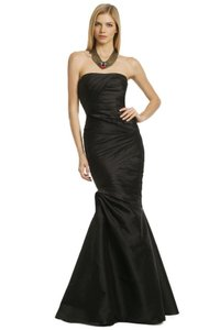 Monique Lhuillier Fishtail Gown Gown Silk Gown Full Length Gown Dress