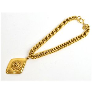 Chanel Vintage CC Medallion Necklace