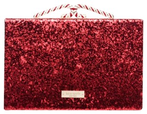 Kate Spade Glitter Holiday Exclusive red Clutch