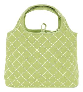 Salvatore Ferragamo Italian White Spring Tote in Green