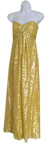 Nicole Miller Strapless Gown Yellow Dress