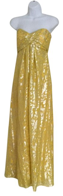 Item - Yellow/ Strapless Gown Long Formal Dress Size 2 (XS)