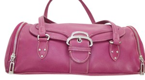 Kenneth Cole Silver Leather Summer Satchel in Pink
