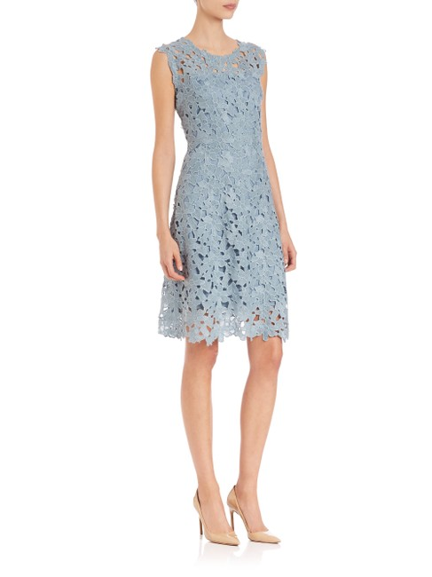 Elie Tahari Night Out Party Lace Floral Bright Dress Image 2
