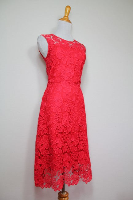 Elie Tahari Night Out Party Lace Floral Bright Dress Image 3