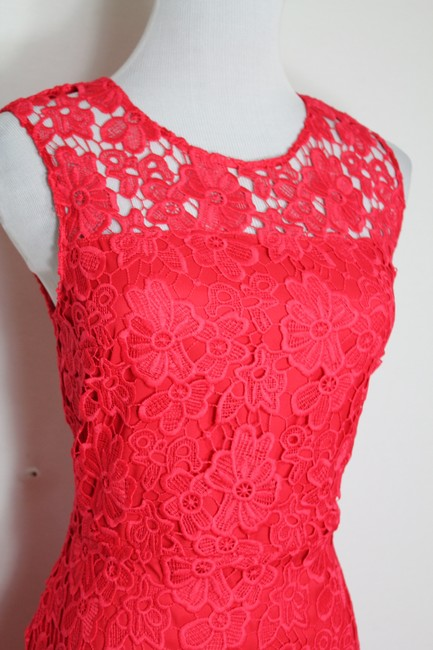 Elie Tahari Night Out Party Lace Floral Bright Dress Image 4