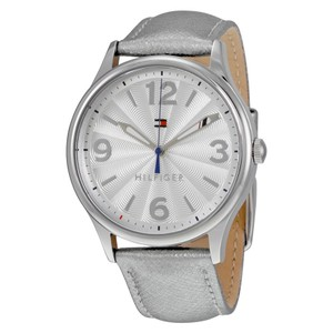 Tommy Hilfiger Metallic Leather Strap Silver Dial 1781592