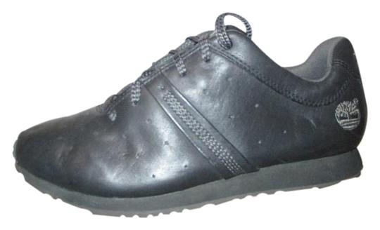 timberland black leather shoes