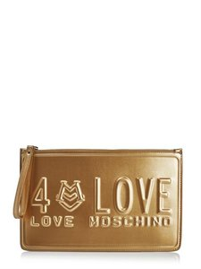 Love Moschino Sale Wristlet in Gold