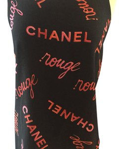 Chanel Top black with red writing