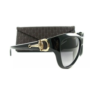 Gucci Black Oversized Cat Eye Sunglasses