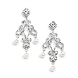 Mariell Vintage Look Wedding Chandelier Earrings