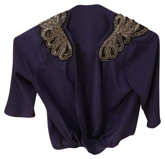 Preload https://img-static.tradesy.com/item/20527614/collective-concepts-purple-blouse-size-2-xs-0-1-650-650.jpg
