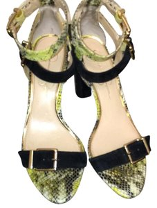 Jessica Simpson black/yellow Sandals