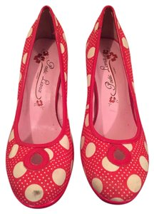 Poetic License Polka Dot Boot Bomber Red Polkadot Pumps