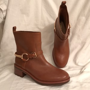 Coach New/nwt Leather Tan (light brown) Boots