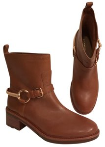 Coach Leather Equestrian Ankle Motorcycle Biker Tan (light brown) Boots