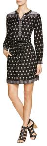 Vince Camuto short dress Black Print Day Anthropologie Work on Tradesy