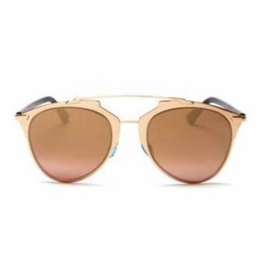 Dior Dior Reflected Mirrored Aviator Sunglasses, 52mm - Rose Gold