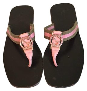 dff40ff09e8d Gucci Pink and Green Flip Flops Sandals Size US 6 Regular (M