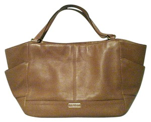 Coach Leather Pebbled Casual Gold Hardware Tote in Saddle