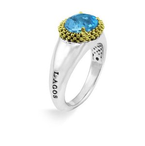 Lagos Passion Two Tone Blue Topaz Ring