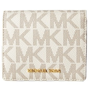 Michael Kors Michael Kors Jet Set Travel Carryall Card Case Signature Vanilla