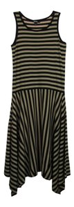 DKNY Stripe Hankerchief Hem Dress