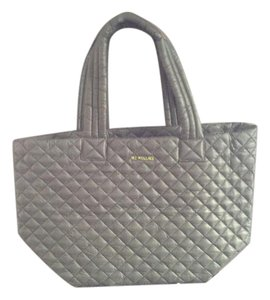 MZ Wallace Quilted Lightweight Tote in Charcoal Grey